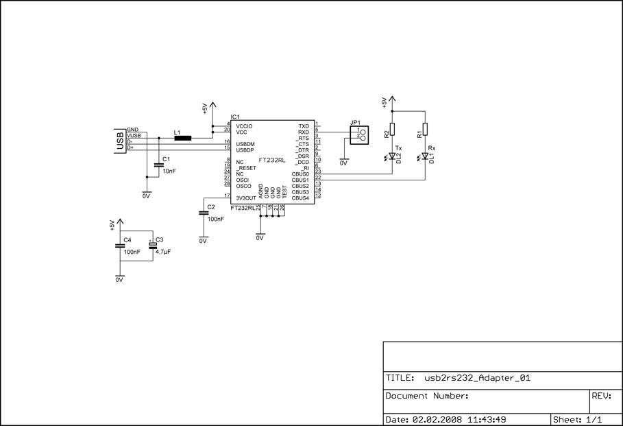 DG7XO ´s Homepage: Selbstbauprojekte: USB zu Seriell Konverter