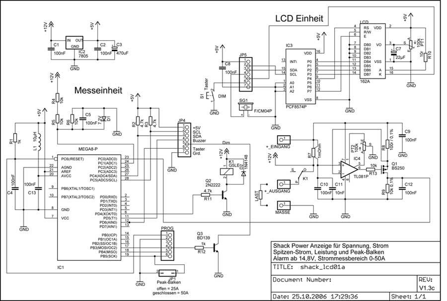DG7XO ´s Homepage: Selbstbauprojekte: Shack DC-Power-Meter Display ...