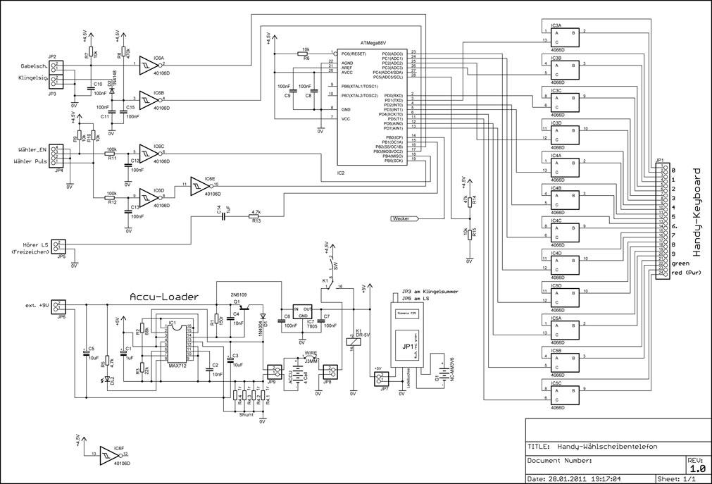 DG7XO ´s Homepage: Selbstbauprojekte: Handy im Wählscheibentelefon
